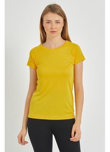 Slazenger Slazenger RELAX Kadın T-Shirt Sarı Sarı